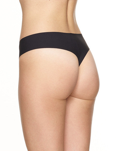 Butter Mid-Rise Thong Black