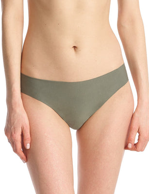 butter mid rise thong in olive leaf