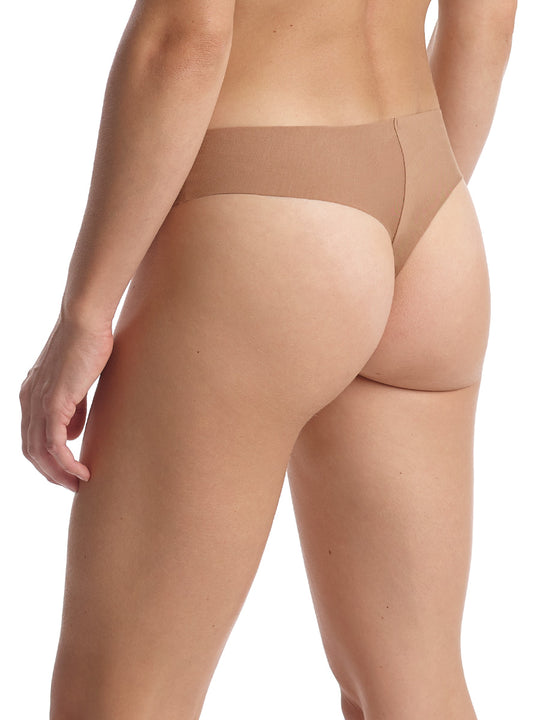 Butter Mid Rise Thong in Toffee