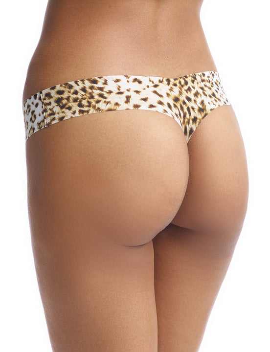 seamless thong with leopard