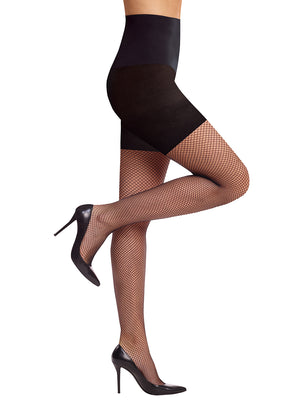 women's control fishnets