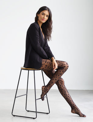 Sale: Leopard Sheer Tights