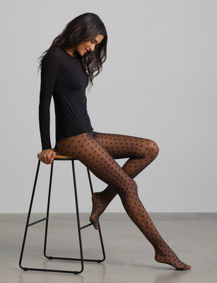 dotty sheer in black