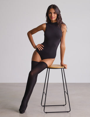 Up All Night Opaque Thigh-High