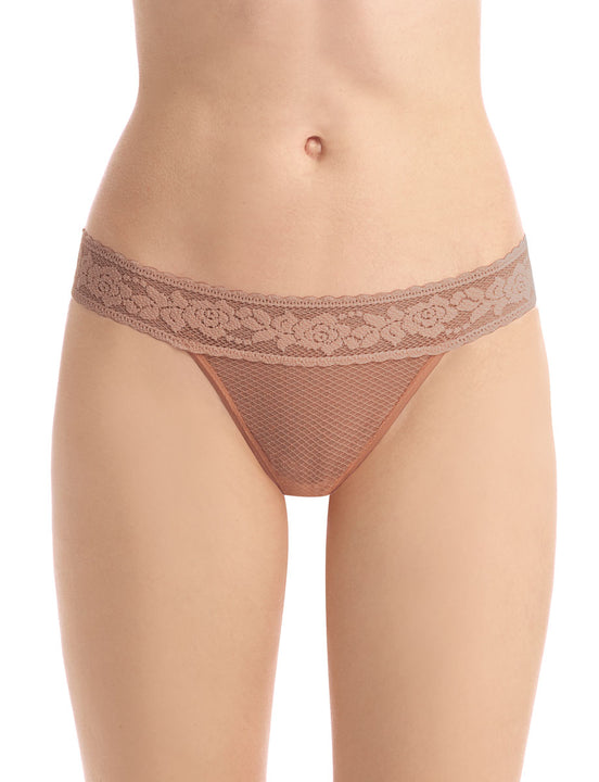 kitty soft thong in caramel