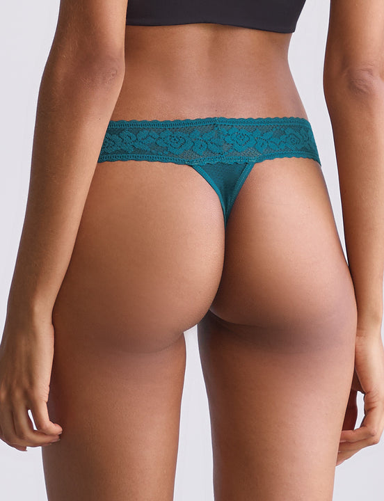 kitty soft thong in deep pine