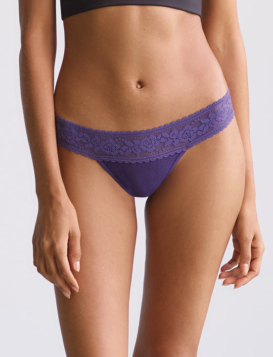 kitty soft thong in eggplant