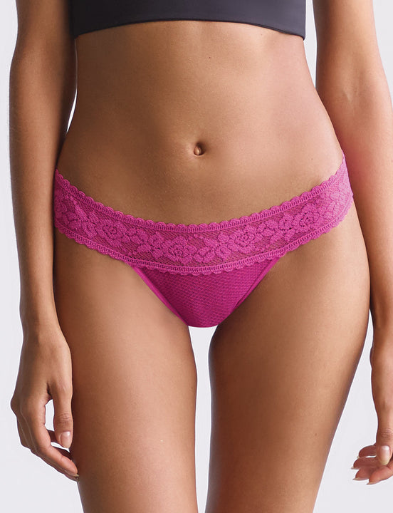 kitty soft thong in fuschia