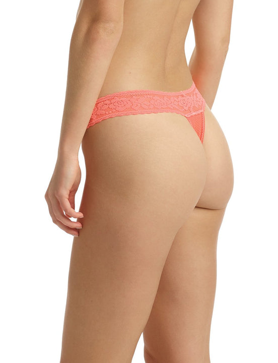 Kitty Soft Thong in Neon Tangerine