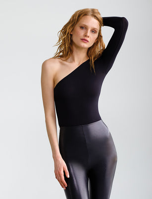 Ballet One-Shoulder Long Sleeve Bodysuit