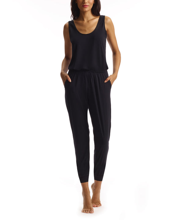Butter Lounge Jumpsuit in Black