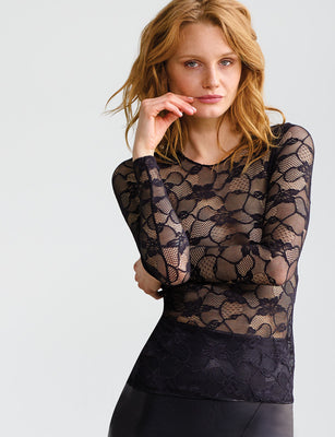 Sale: Floral Lace Long Sleeve Top