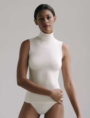 Sale: Minimalist Sleeveless Turtleneck