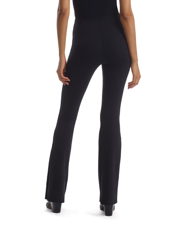 women's black flared legging