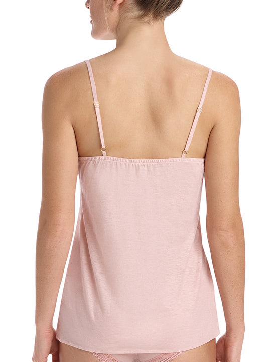 pima cotton cami in pale pink
