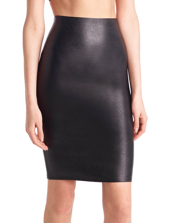 f34bfe3c22 Women's Faux Leather Pencil Skort | Commando®