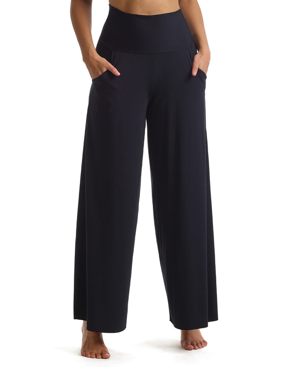 Butter Wide Leg Lounge Pant in Black