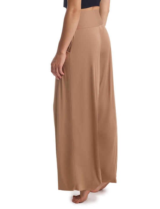 Butter Wide Leg Lounge Pant in Toffee