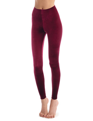 Velvet Legging in Red