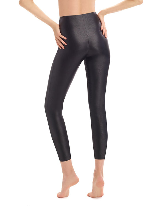 faux leather 7/8 faux leather legging