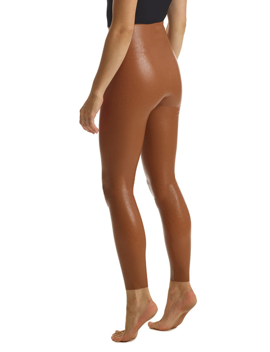 Faux Leather Legging in Cocoa