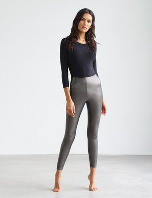 Sale: Faux Leather Legging with Perfect Control