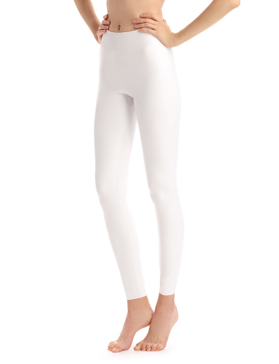 Faux Leather Legging in White