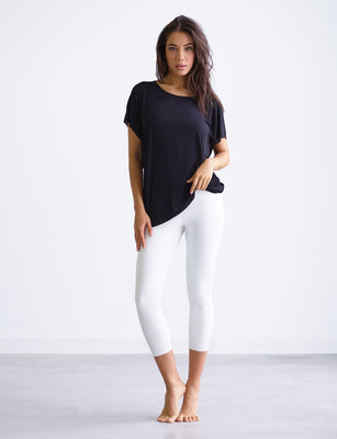 Sale: Faux Leather Capri Legging with Perfect Control