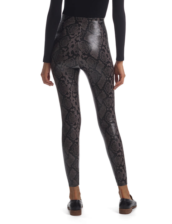 7/8 Faux Leather Animal Legging with Perfect Control