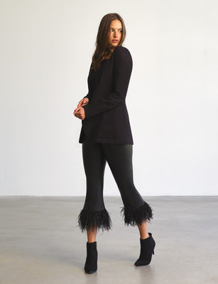 Sale: Faux Leather Feather Legging