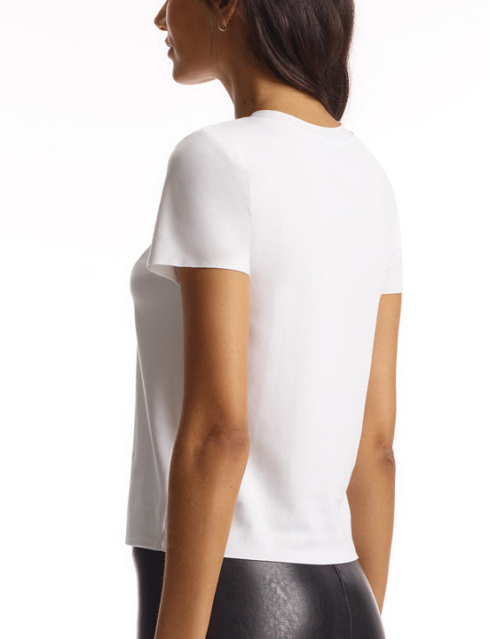 womens white cotton tee