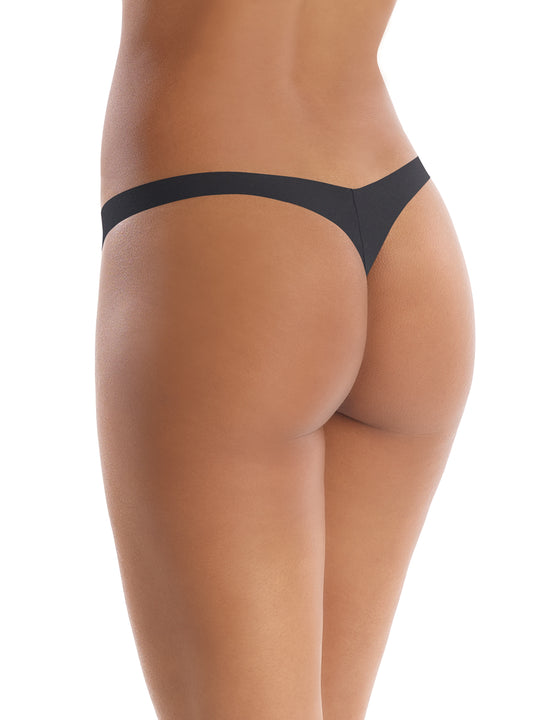 seamless tiny thong in black