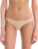 seamless tiny thong in beige