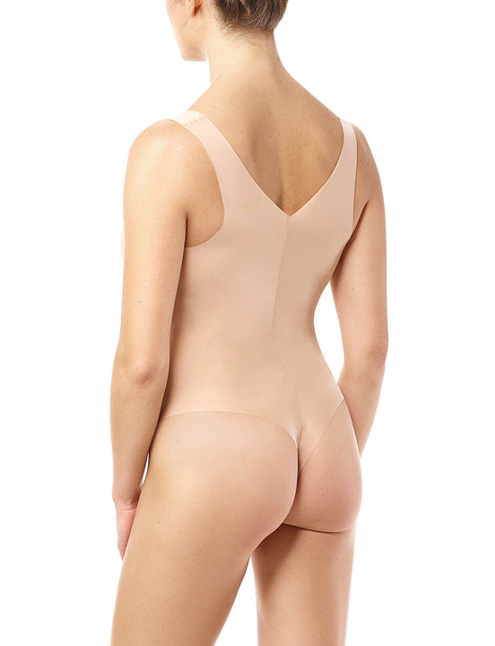 women's lightweight bodysuit beige