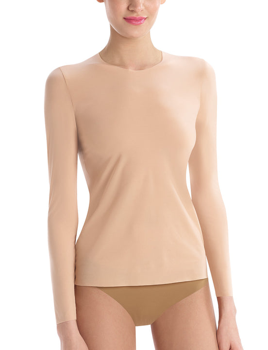 womens long sleeve in beige