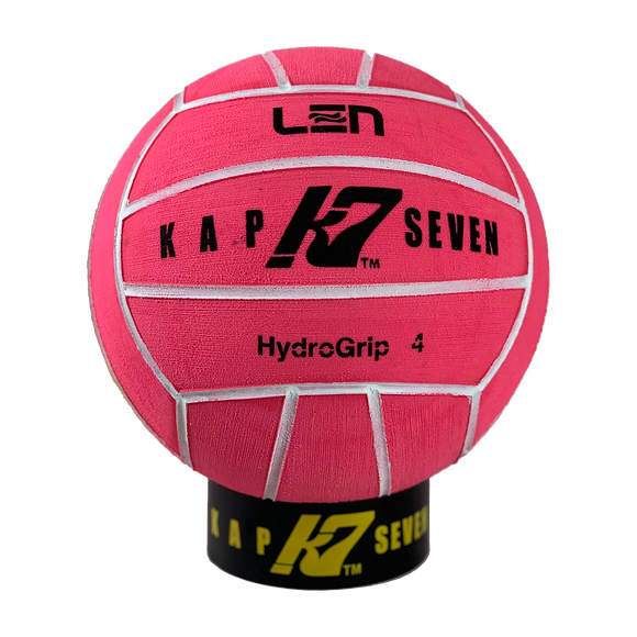 KAP7 Size 4 HydroGrip Pink Water Polo Ball
