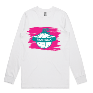 Randwick Netball Warm up Long Sleeve Shirt - PRESALE, delivery in April