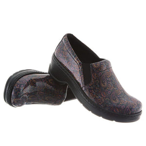 Klogs Natalie Women's Paisley Patent 8 W Clog Display Model Shoes