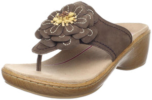 Klogs Women's Aloha Sandals Coffee Nubuck Leather Display Model 6 M