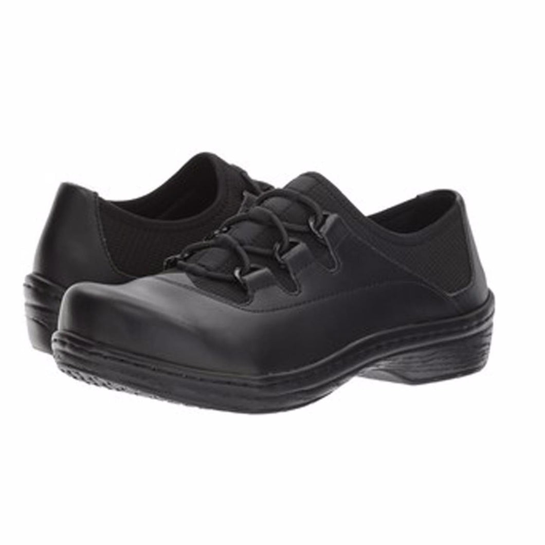 Klogs USA Tralee Women's Lace Up Shoes Black Smooth 7.5 M