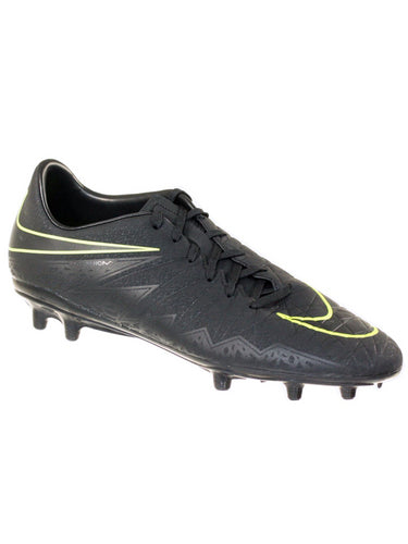 Nike Men's Hypervenom Phelon II FG Soccer Cleats Black/Volt 7.5 M