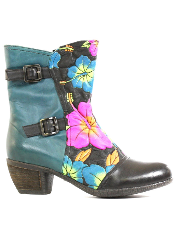 L'Artiste by Spring Step Womens Leather Boots Rosabaya Turquoise 37 US 7