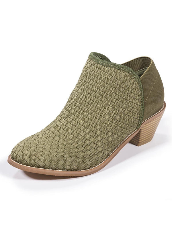 Zee Alexis Womens Monica Ankle Boots Olive 8.5 M