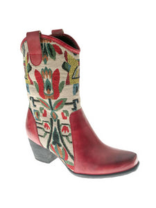 L'Artiste by Spring Step Womens Leather Boots Grazia Red 37 US 7