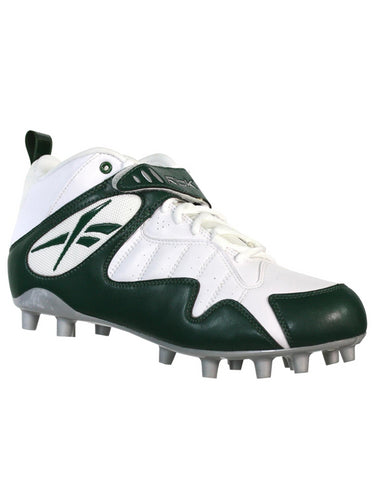 REEBOK PRO ALL OUT ONE MID MP MENS FOOTBALL CLEATS WHITE GREEN 12