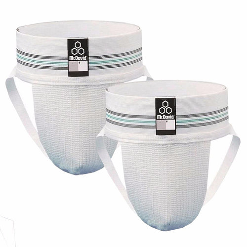 McDavid Classic Logo 3110 IR Athletic Supporter  2-Pack - White - Small
