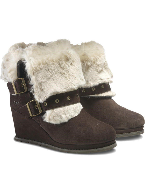 Cat By Caterpillar Boisterous Faux Fur Cafe Womens Boots US 9.5 M, EU 40.5