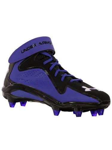 Under Armour MICRO G RENEGADE MID D Men Football Shoe BKBLWH 10M