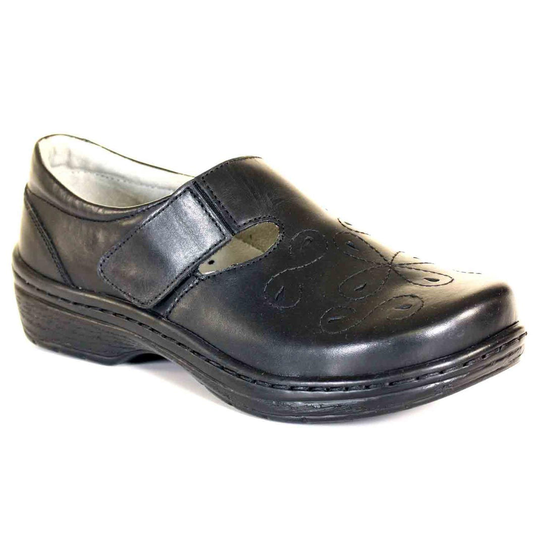 Klogs Brisby Women's Black Smooth 7 M Clog Display Model Shoes