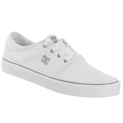 DC Men's Trase TX Skateboard Canvas Shoes Display Model White 10 M